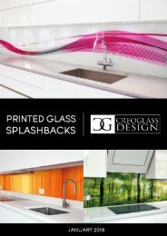 Creoglass Printed Splashback Catalogue - Jan 2018