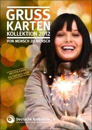 Grußkarten-Kollektion 2012 (PDF) - Deutsche Krebshilfe eV