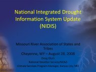 National Integrated Drought Information System Update (NIDIS)