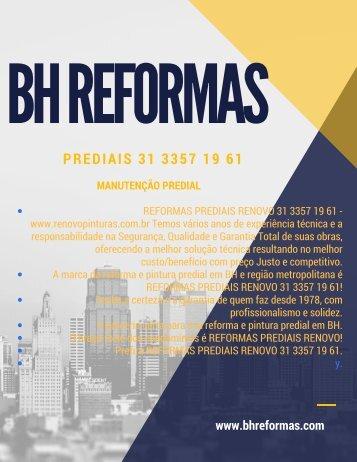 Renovo Dicas de Reformas Prediais em Condomínios e Empresas em BH