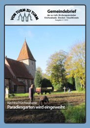 Paradiesgarten wird eingeweiht - Kirchenkreis Rotenburg