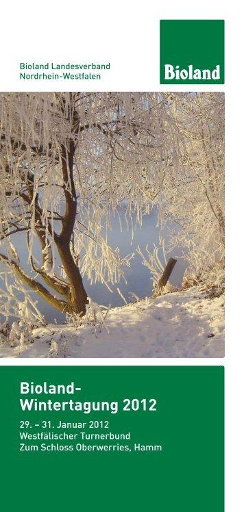 Bioland- Wintertagung 2012