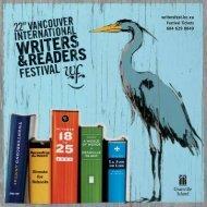 2009 Program - Vancouver International Writers Festival