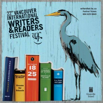 2009 Program - Vancouver International Writers Festival
