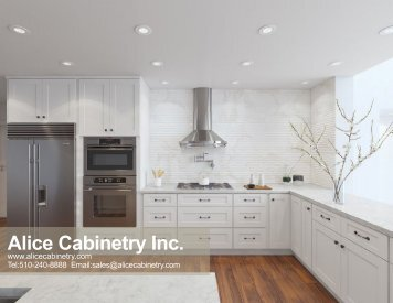 Alice Cabinetry Catalog