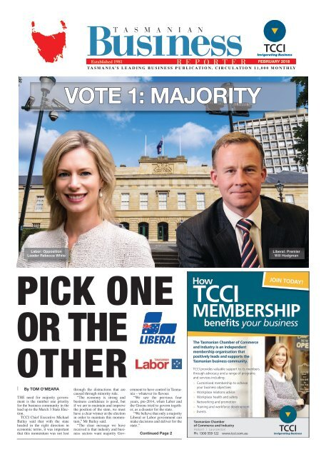 Tasmanian Business Reporter February 2018