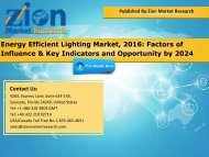Energy Efficient Lighting Market