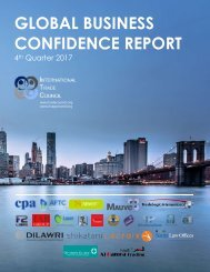 2017 4th Quarter International Trade Council Global Business Confidence Survey