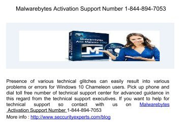 Malwarebytes Activation Support Number_1-844-894-7053