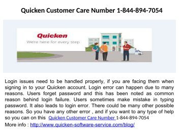 Quicken Activation Number Number 1-844-894-7054