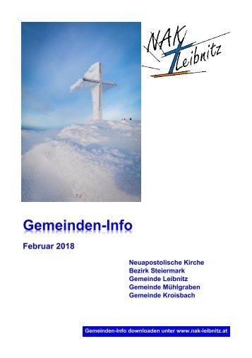 Gemeindeinfo Februar 2018