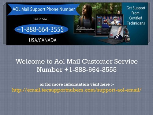 Call +1-888-664-3555 Aol Mail Customer Service Number