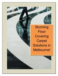Stunning Floor Covering Carpet Solutions in Melbourne!