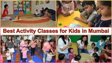 Top 5 Activity Centers for Toddlers in Mumbai