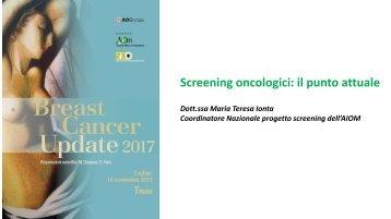 Prima unità Ionta Screening oncologici