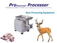 Commercial Deer Meat Processing Supplies