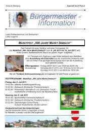"""MARKTFEST """"500 JAHRE MARKT DIMBACH"""" - Marktgemeinde ..."""
