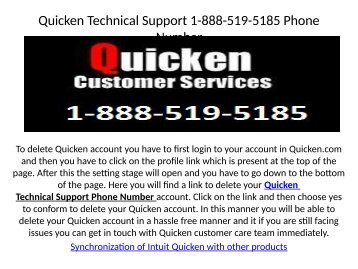 Quicken CD/download login1-888-519-5185