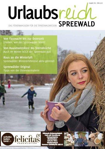 Ferienmagazin Urlaubsreich Spreewald, Ausgabe  Februar – März 2018