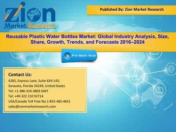 Global Reusable Plastic Water Bottles Market, 2016–2024