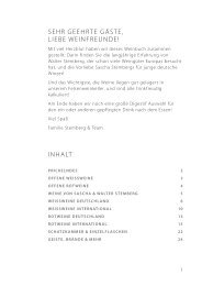 Weinkarte Stemberg