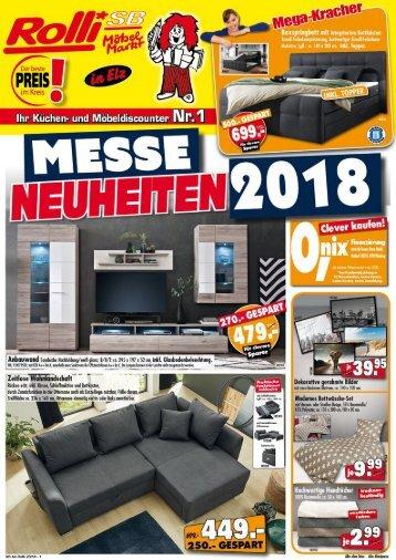 Messe Neuheiten bei Rolli SB-Möbelmarkt in 65604 Elz bei Limburg