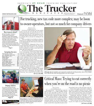 The Trucker Newspaper - February 1, 2018
