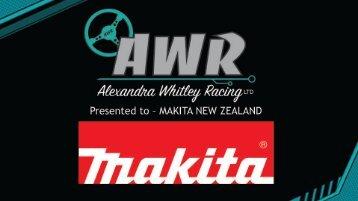 Alexandra Whitley Racing - Makita Proposal 2018