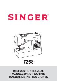 Singer 7258   STYLIST™ - English, French, Spanish - User Manual