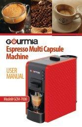 Gourmia GCM7000 Multi-Capsule Espresso Machine -