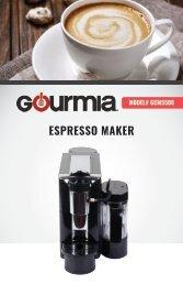Gourmia GCM5500 Espresso, Cappuccino & Latte Maker -