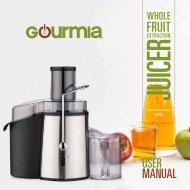 Gourmia GJ750 Wide Mouth Juice Extractor -