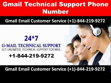 Gmail technical support phone number +1-844-219-9272