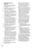 Sony SHAKE-X3D - SHAKE-X3D Consignes d'utilisation Norvégien - Page 4