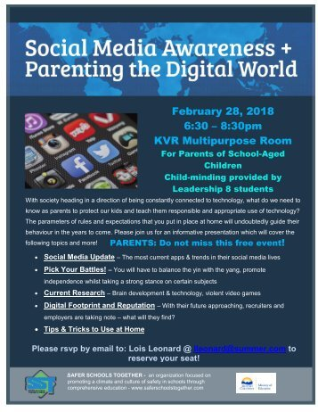 Digital Awareness Parent Night - Feb 2018