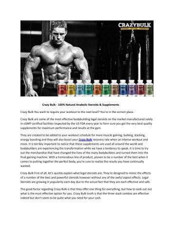 Crazy Bulk - Best Muscle Building Steroids Supplement