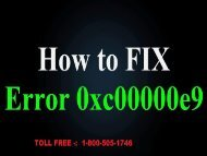 Fix Toshiba laptop error 0xc00000e9