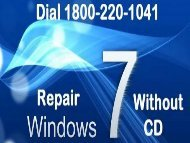 How to Repair Windows 7 without CD 18002201041