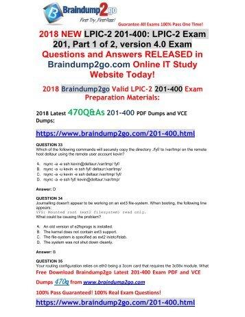 [2018-January-Version]New 201-400 PDF Dumps 470Q&As Free Share(33-43)