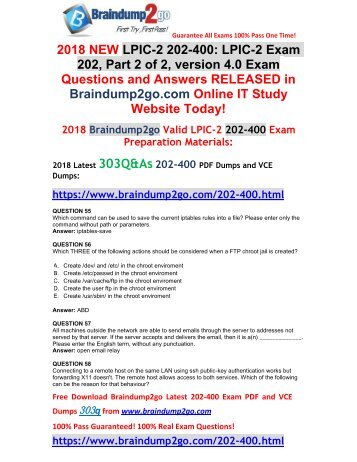 [2018-January-Version]New 202-400 PDF and 202-400 VCE Dumps 303Q&As Free Share(55-67)