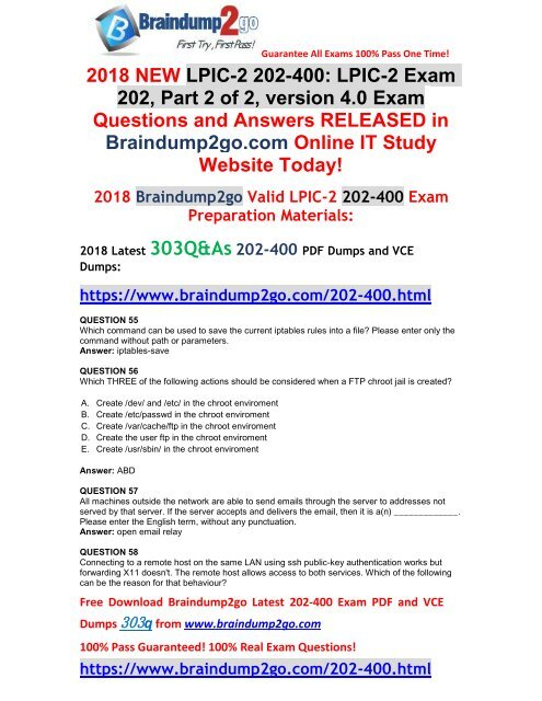2018-January-Version]New 202-400 PDF and 202-400 VCE Dumps