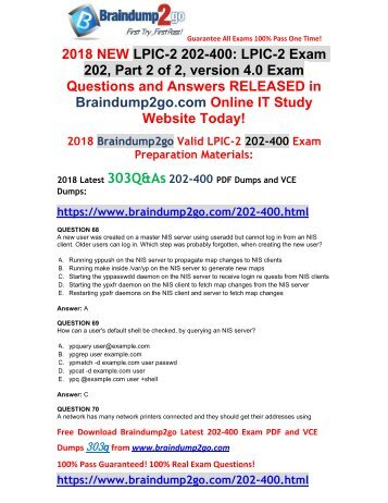 [2018-January-Version]New 202-400 VCE and 202-400 PDF Dumps 303Q&As Free Share(68-83)