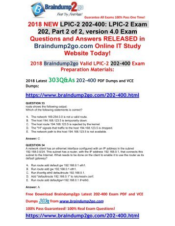 [2018-January-Version]New 202-400 PDF Dumps 303Q&As Free Share(33-43)