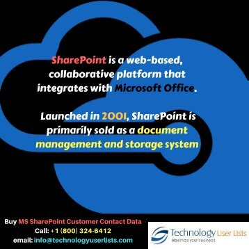 Free Ms Sharepoint Users Email Marketing List
