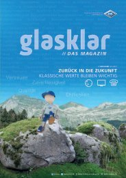 Glasklar - Kundenmagazin von SAKnet