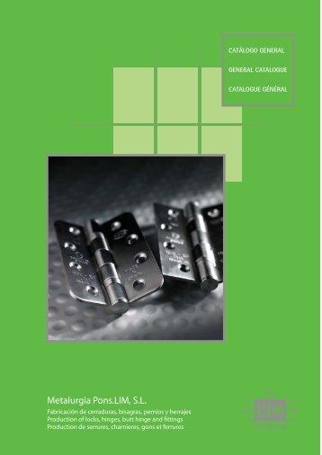 Metalurgia Pons - Catálogo