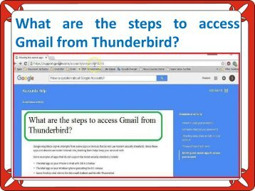 What are the steps to access Gmail from Thunderbird?
