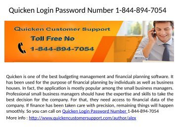 Quicken Customer Support Number_1-844-894-7054