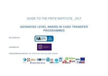 CHSCM Level Award in CTP Guide 2018