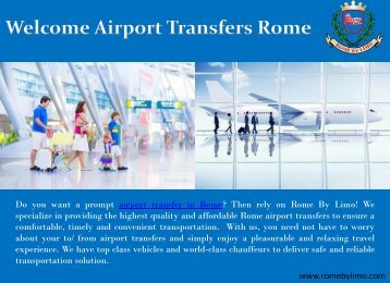 Airport Transfers Rome